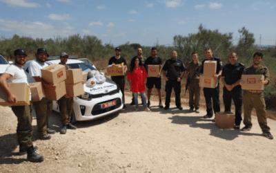Sending Love from Or Akiva to Israel's Defenders